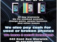 We do cell phone repair on any problems with your