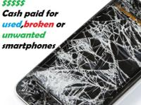 We are looking to buy used or broken cell phones for a