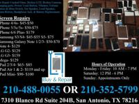 We repair iPhone 4 4s 5 5c 5s 6 6 Plus, iPad 2 3 4, Air