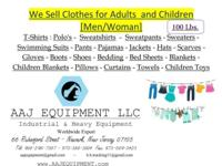 We Are offering Clothes by weight. 100 Lbs. T-Shirts /