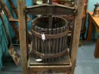 Fruit Press. Excellent working condition. Measures
