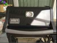 Weber natural gas grill. This grill has been used less