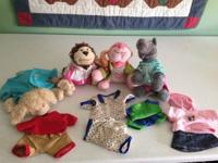 Webkinz collection with clothes.  Email with any