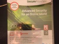 Webroot Advanced Internet Security Installation CD.  It