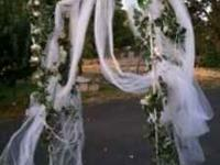 Wedding Arbor with lights, Tulle & Ivy. $100 OBO. In