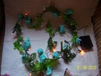 I have (14) 6 foot turquoise green/aqua green vines
