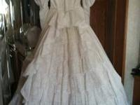 have a very nice wedding dress for sale,size 8 clean