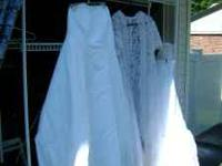 this is a size 18 wedding dress in great shape.no