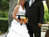 Beautiful wedding dress for sale. $200.00 or best