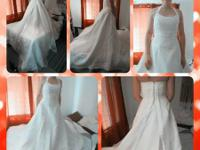 Wedding dress only wore once size Outfit just put on