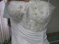 Wedding dress for sale. Aspeed brand, size medium. Will