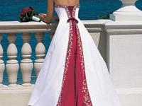 Description i am selling an red&white wedding dress.it