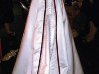 Beautiful wedding dress that has been professionally