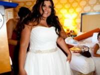I have a white wedding dress for sale. Bought at