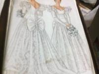 WEDDNG DRESS PATTERNS NEVER BEEN USED NEW LOOK SIZE