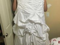 Sweetheart wedding dress from David's bridal. Paid 400