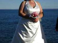 I have a beautiful wedding dress from Davids Bridal for