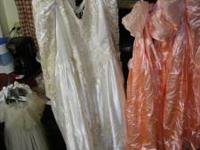 Wedding dress size 20 made very well and 3 bride maids