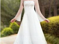 Size 26 A-line princess wedding dress with a chapel