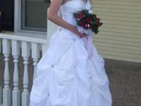 I have a strapless size 6 wedding gown I am selling. It