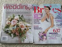 Wedding magazines used to plan my recent wedding this