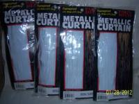 I have 4 white metallic curtains. They measure 3 ft