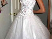 Prom dress could be used as a wedding dress. Only worn