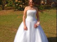 Gorgeous all white ball gown. It is actually a wedding