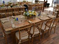 Sale Buy Rent Long Wooden Old-fashioned Ranch Tables,
