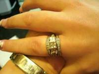3 piece wedding band set...not sautered together....in
