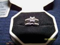 Very nice platinum/ diamond wedding ring set from Zales