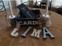 Just Married Sign-$5 card Holder-$5 4 Wooden Letters-