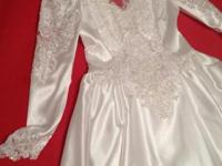 BEAUTIFUL WEDDING DRESS SIZE 12 TRAIN IS ATTACHED