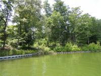 140 feet of shoreline with all year water. Lot has