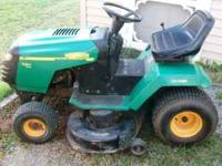 I'm selling this 18.5 Briggs Weed Eater Riding Mower