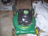 The mower is in good condition, but it is a little bit