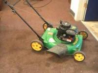weed eater push mower, this is a complet mower, the