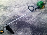 Weed Eater Straight Shaft Trimmer . Light enough for a