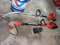 first one is a cordless black & decker grass hog works