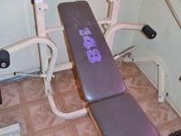 This Weider incline bench can be yours! Comes with