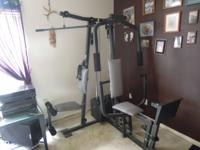 Weider 8630 Home Gym. 2 sets of weight stacks for Arm