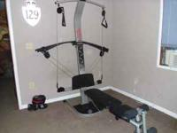 For sale is a Weider Crossbow Home Gym and a manual