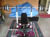 For sale: Joe Weider weight set with Impex professional