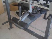 45lb bench bar curl bar dumb bell bar adjustable weight