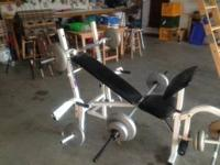 I have a weight bench and 3 bars and 120# of weight,