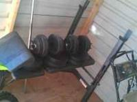 I am selling a practically brand new weight bench and