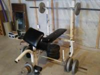 Weight Bench and weights I have an older weight bench