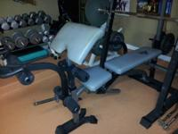 Utility Bench w/  multi-position seat, Lat Accessory,