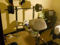 I have for sale a weight bench with a bench press,