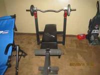 Weight bench w/weights and leg press Barely used